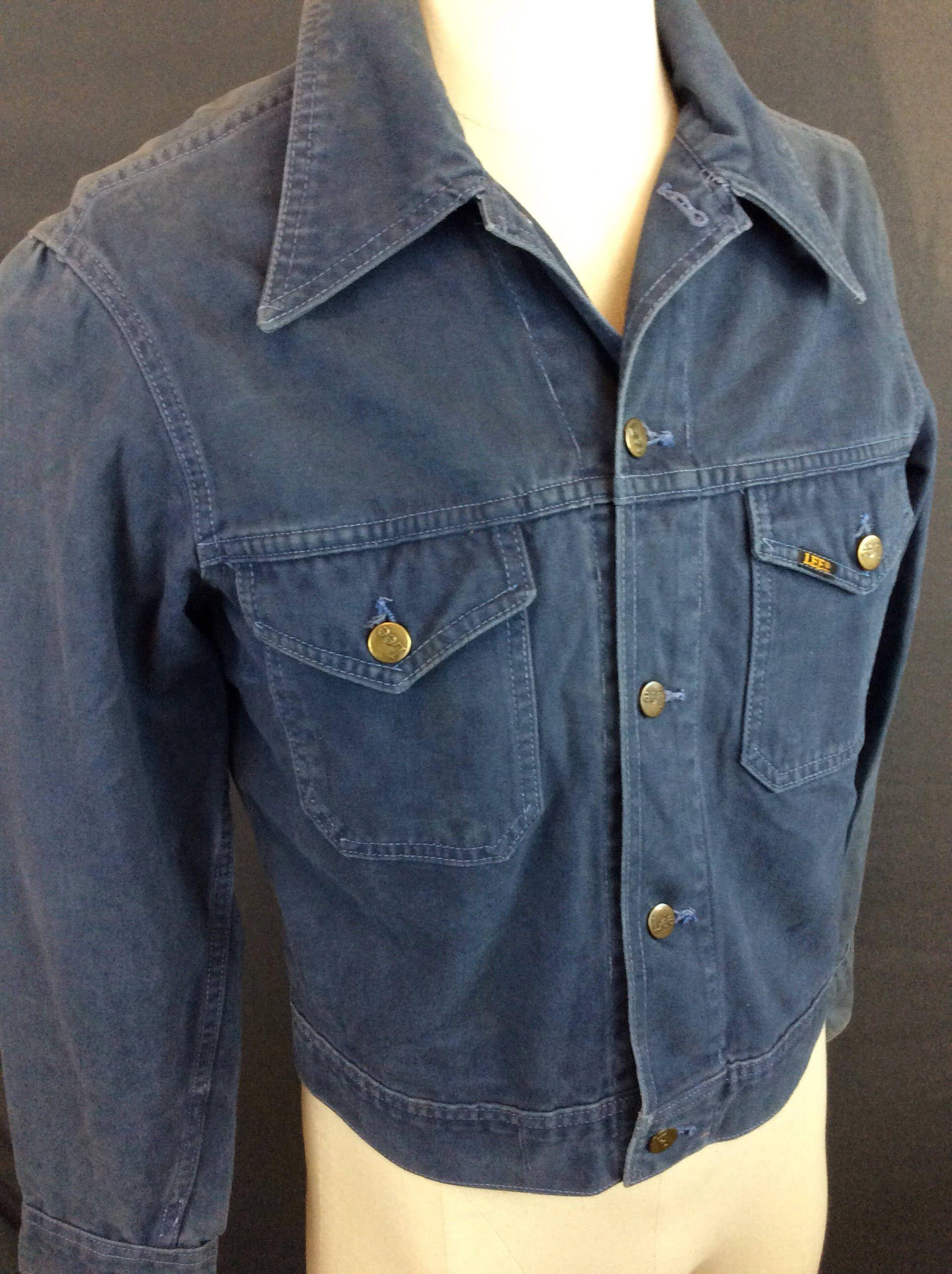 Vintage Jacket 70 S Denim Jacket Lee Blue Jean Jacket Etsy Lee Denim Jacket Leather Jacket Men Vintage Denim Jacket [ 2592 x 1936 Pixel ]
