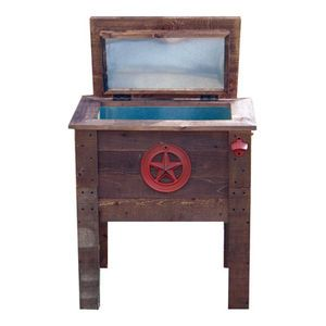 Backyard Expressions Wooden Patio Cooler