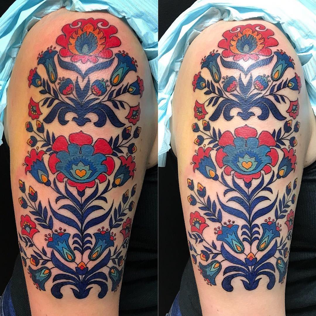 Upper arm tattoo butterflies for women Photo by