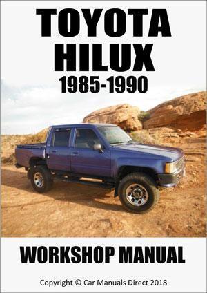 toyota hilux 1985 1989 workshop manual carmanualsdirect rh pinterest com 1999 Hilux Decals 1999 Toyota Hilux Pick Up