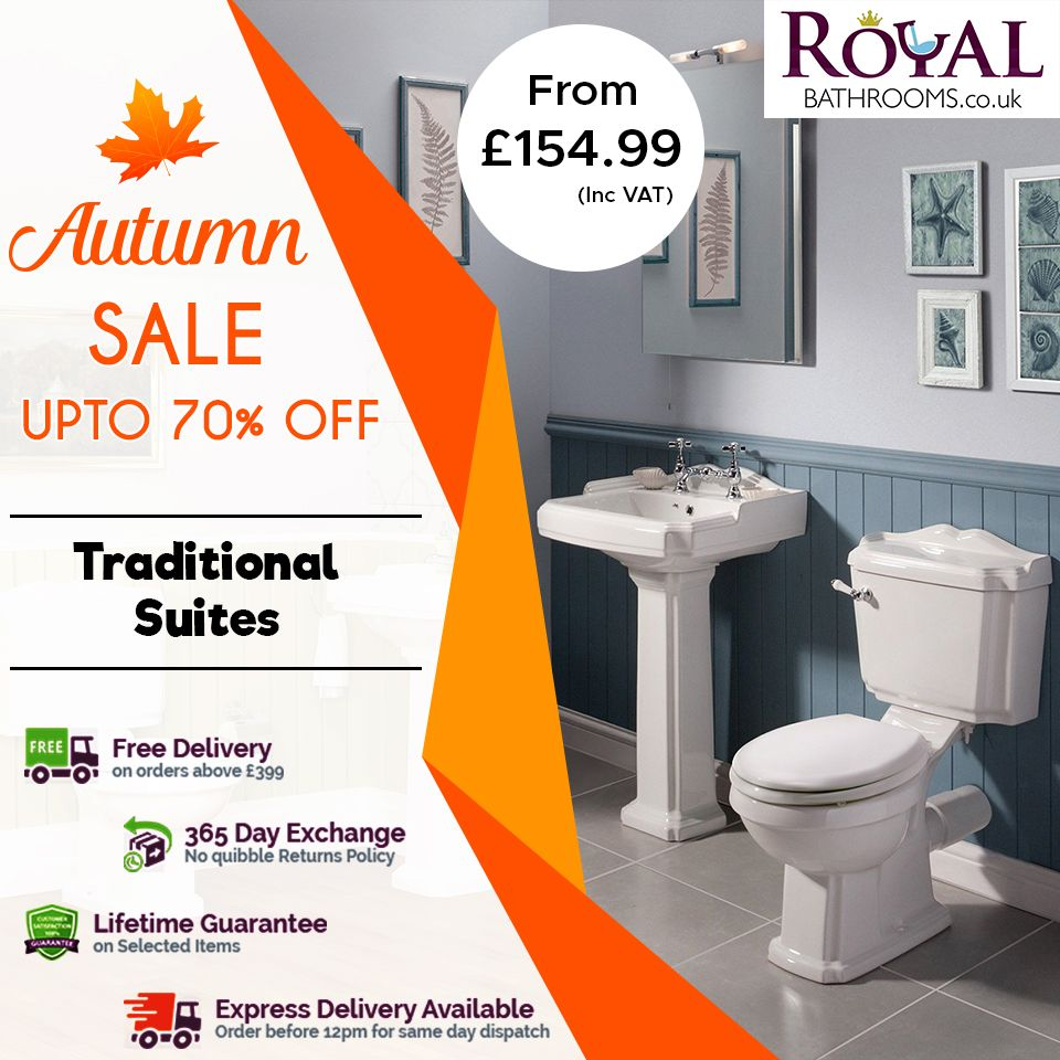 Royal Bathroom offers you an exclusive sale on all products up to