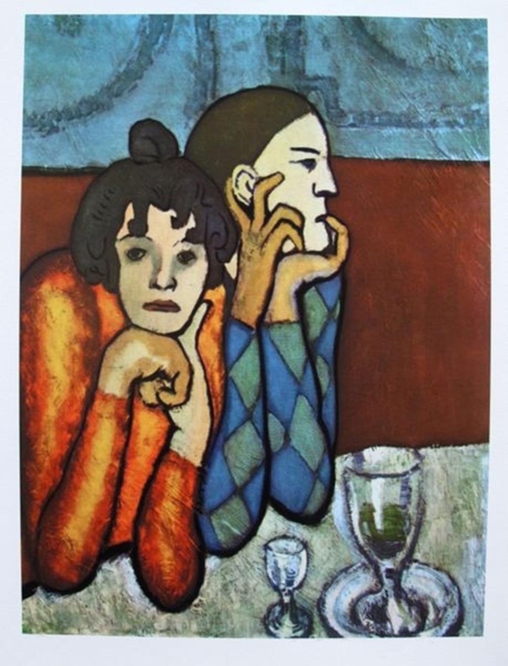 Pablo Picasso Harlequin And His Companion Pablo picasso