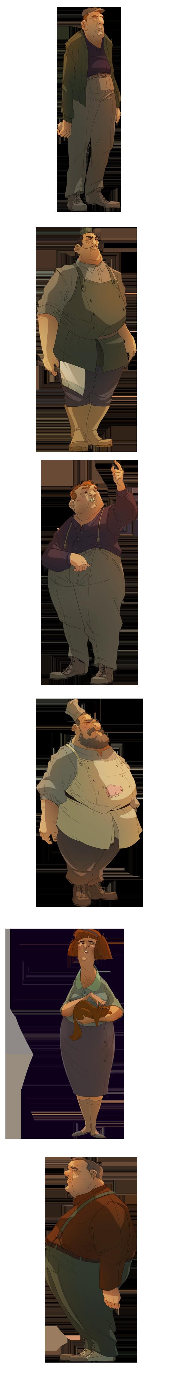 Beautiful Character Design by Vivien Bertin