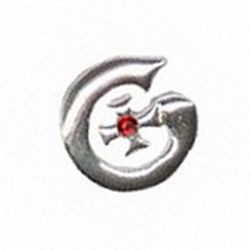 Geocaching / Geocoin lapel pin: Midway Cafe, silver