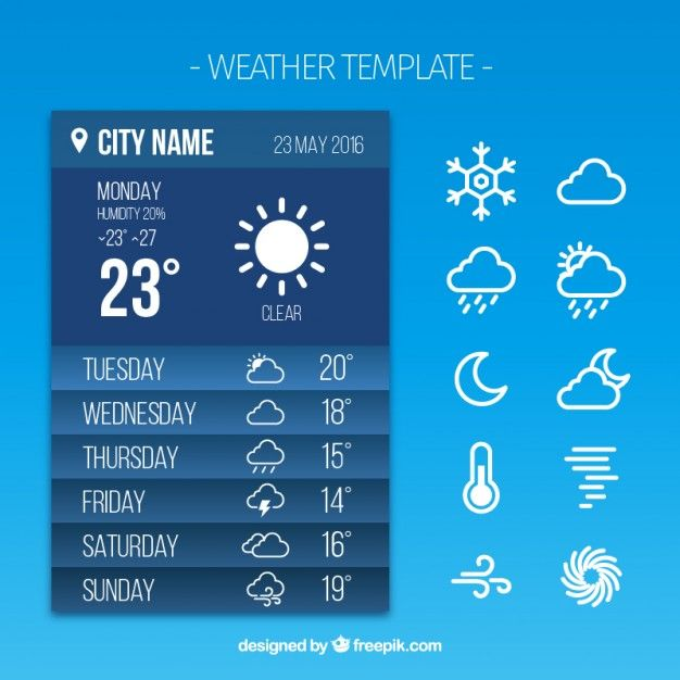 weather report app free vector my freepik pinterest free