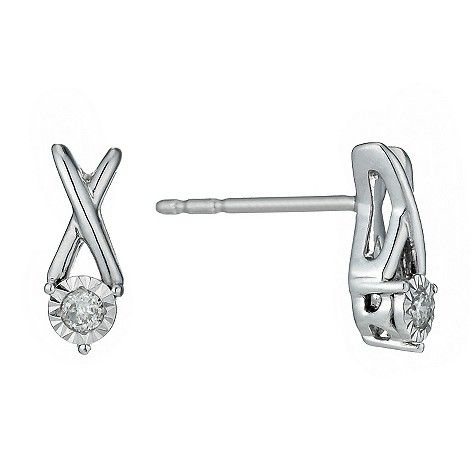 Silver Illusion Diamond Earrings @ H Samuel