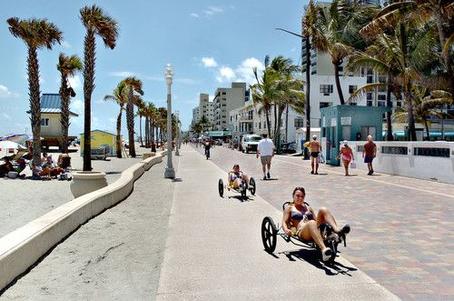 Hollywood Florida Boardwalk The Beach Just South Of Fort Lauderdale