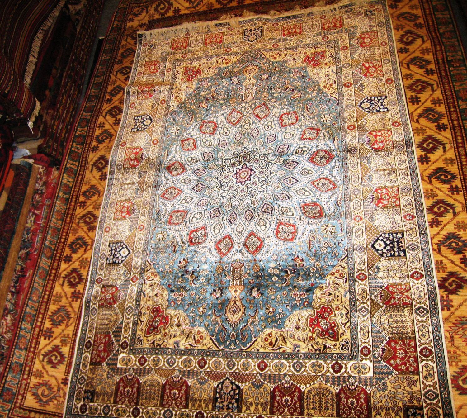 PERSIAN CARPET BEAUTIFUL iran iranian rug persia qom 4x6 ...