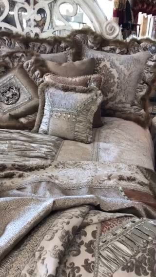 The Venetian Luxury Bedding collection combines several different textures of wa...,  The Venetian Luxury Bedding collection combines several different textures of wa...,