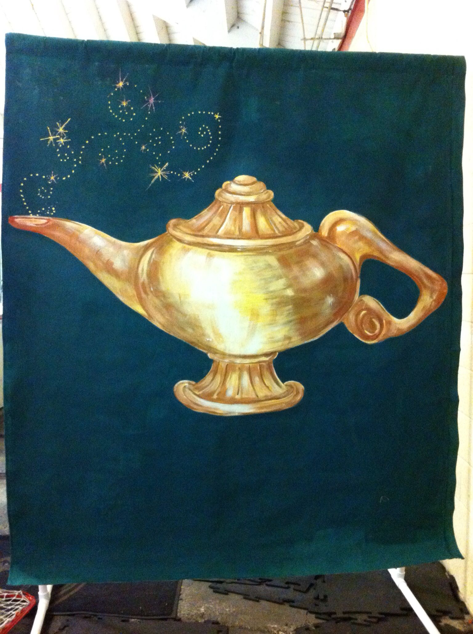 Genie Lamp step by step drawing tutorial | Aladdin art