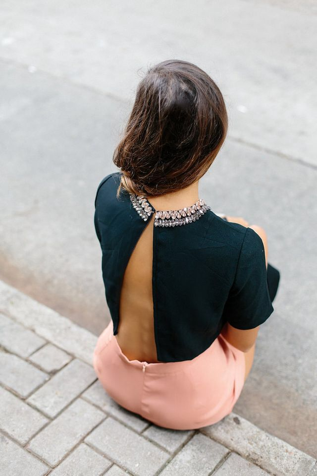 Pin By Ayelen Silva On Diy Fashion Backless Crop Top Fashion Backless Shirt