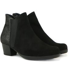 6a7629bb3e4f17 Gabor enkellaarzen zwart suede kopen bij Steenbergen Schoenen #laarsjes  #enkellaarsjes #boots #Gabor
