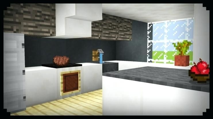 Kitchen Ideas In Minecraft Minecraft Kitchen Ideas Minecraft Interior Design Minecraft Bedroom