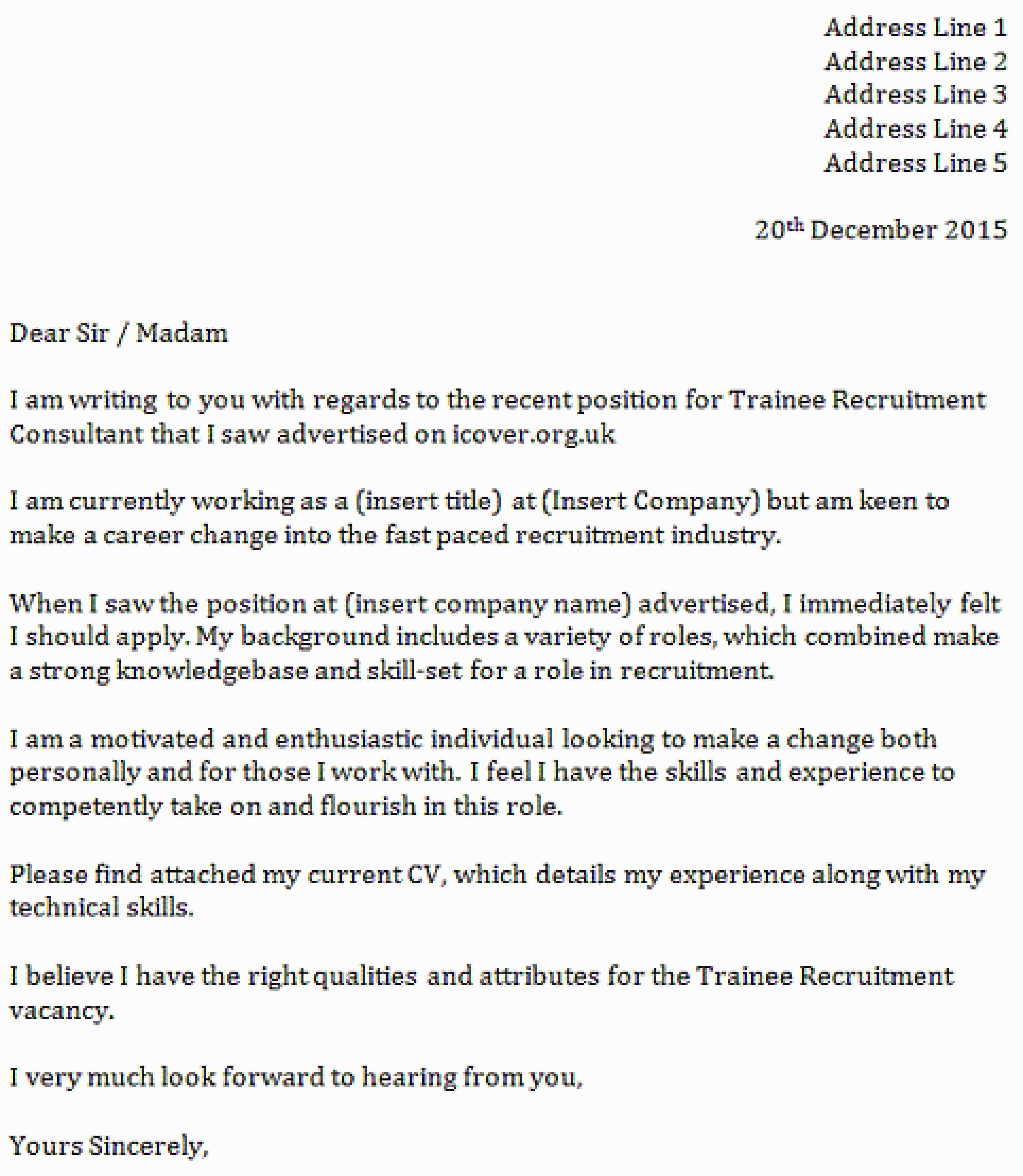 26 Recruiter Cover Letter Job Writing A Employment Statu Dissertation