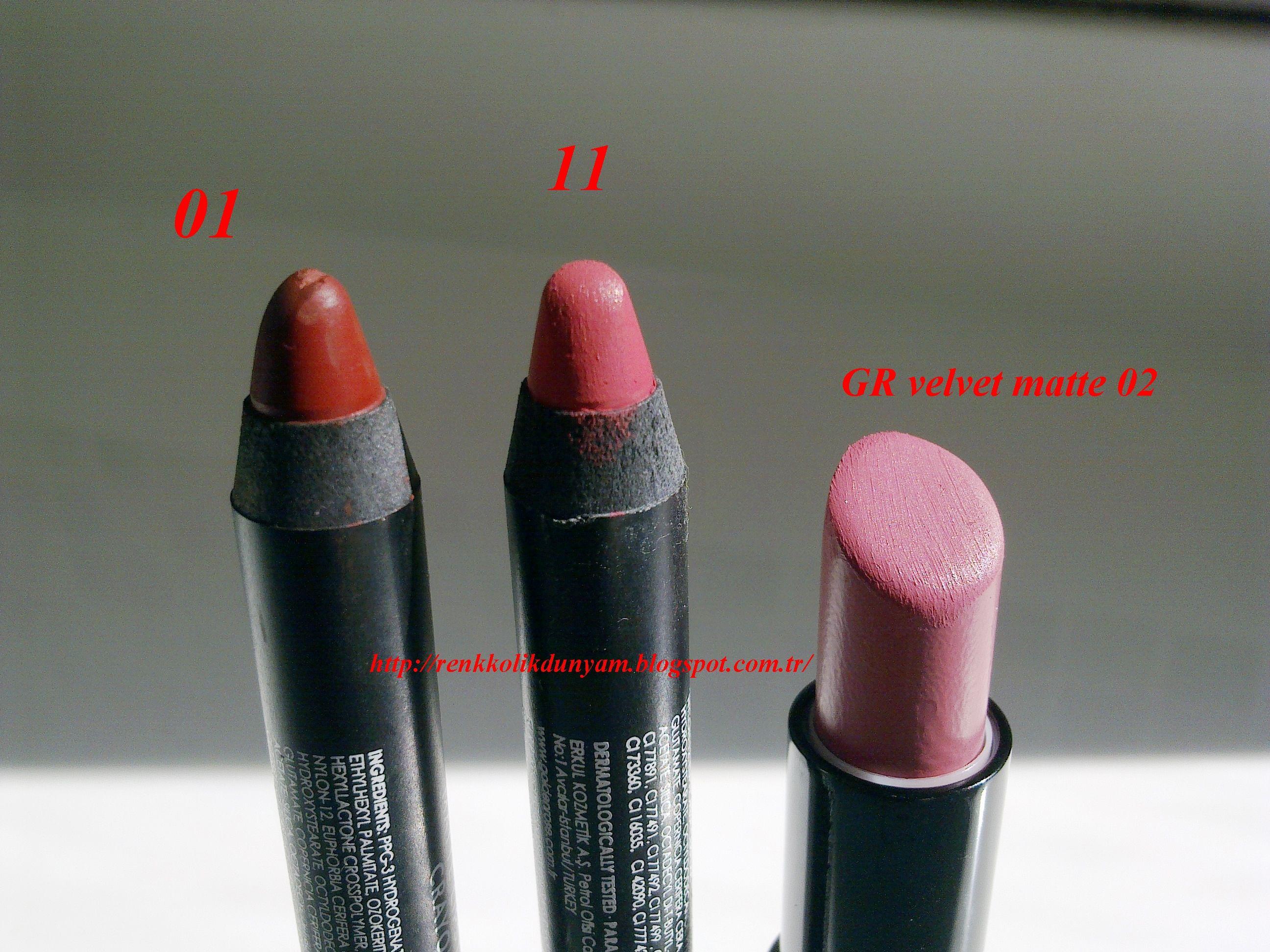 Goldenrose Matte Lipstick Crayon 01 11 Ve Golden Rose Velvet