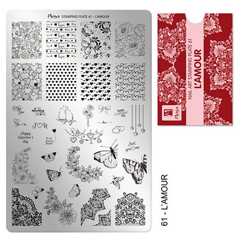 COMING SOON Moyra Stamping Plate 61 - L'Amour