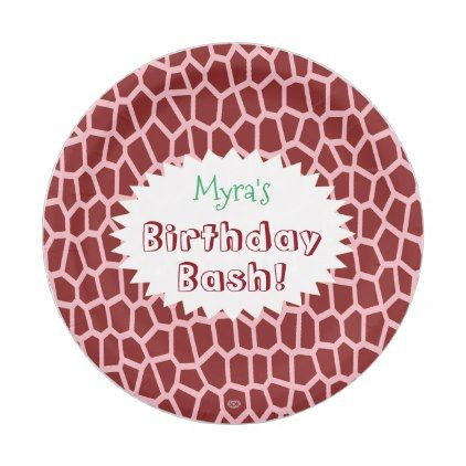 U pick Color/ Brown Giraffe Print in Mosaic Tile Paper Plate - classic gifts gift  sc 1 st  Pinterest & U pick Color/ Brown Giraffe Print in Mosaic Tile Paper Plate ...