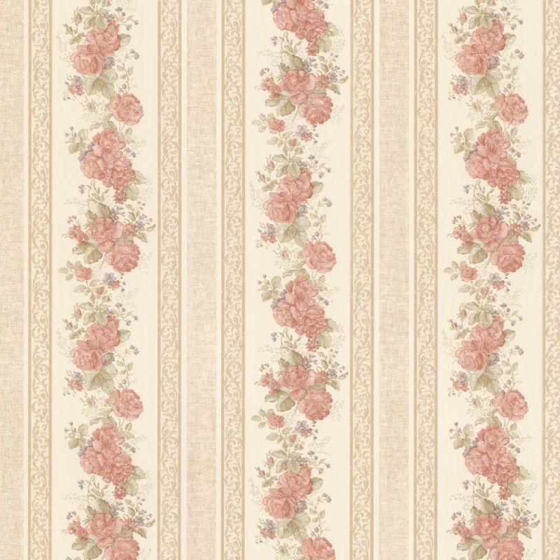 vintage rose englische landhaus satintapeten streifen rosen art nr 68316 tapeten. Black Bedroom Furniture Sets. Home Design Ideas