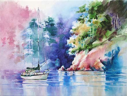 My 1st Watercolor Canvas Painting Watercolor Canvas Painting