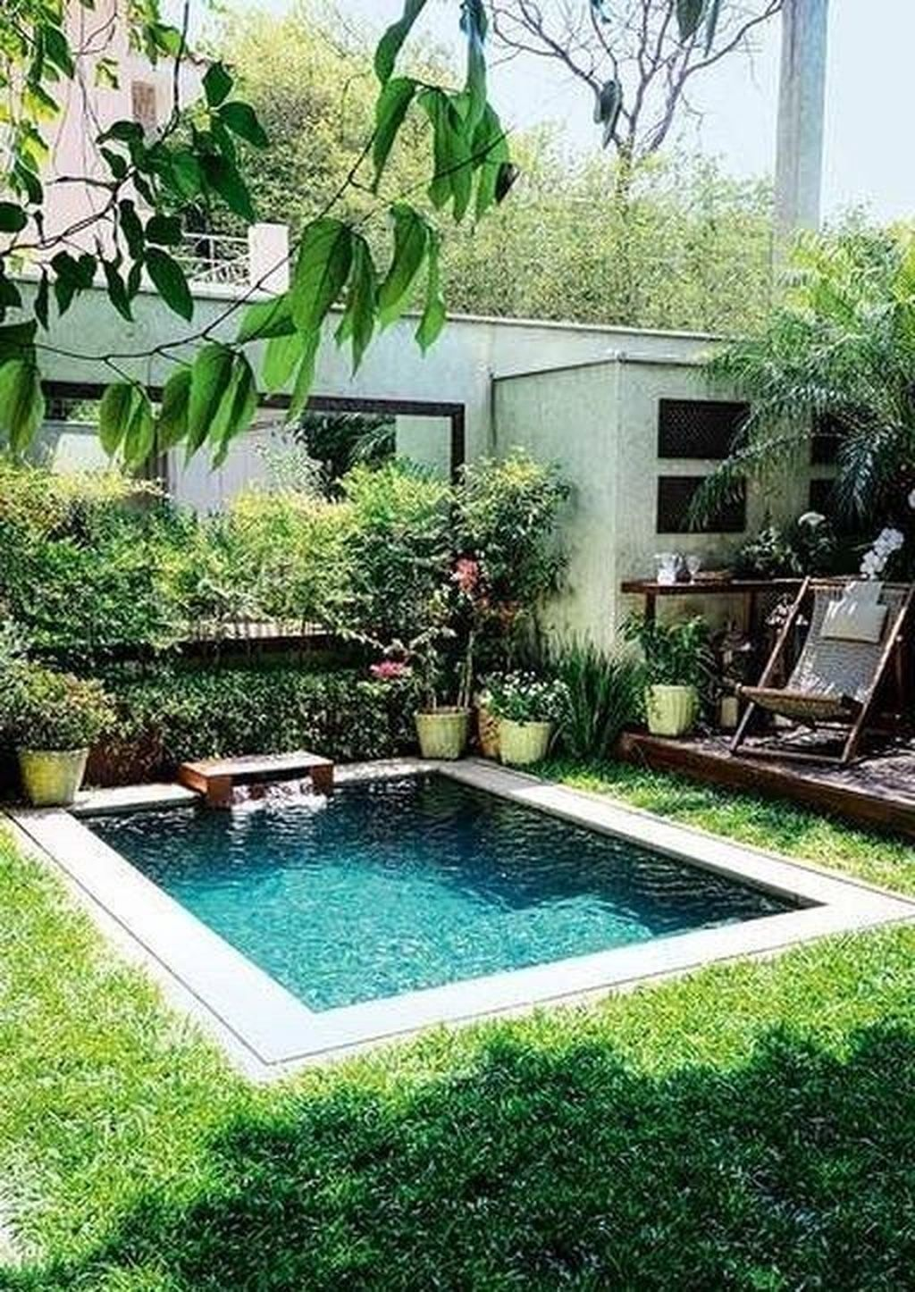 30 Amazing Natural Small Pools Design Ideas For Backyard Coodecor Small Pool Design Small Inground Pool Swimming Pools Backyard
