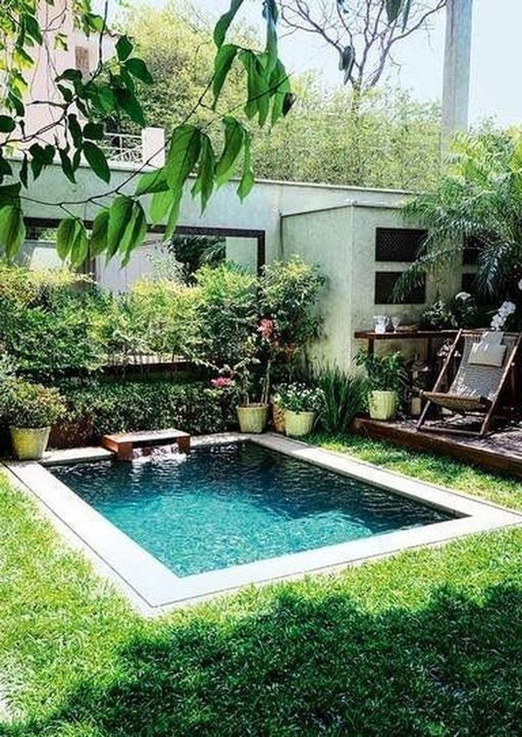 30 Amazing Natural Small Pools Design Ideas For Backyard Coodecor Small Pool Design Small Inground Pool Swimming Pools Backyard