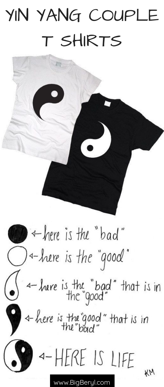 ecdab9b9e9 Cute Couple Outfits Ideas - Matching Tshirts & Shirts for romantic couples.  Yin Yang simple black and white tshirts for women and men.