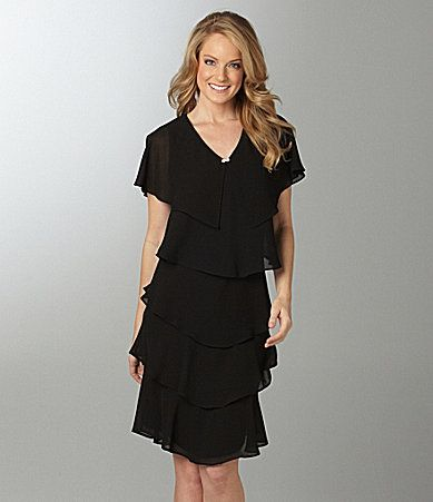 ffb68d369e5 Patra Tiered Georgette Dress  Dillards