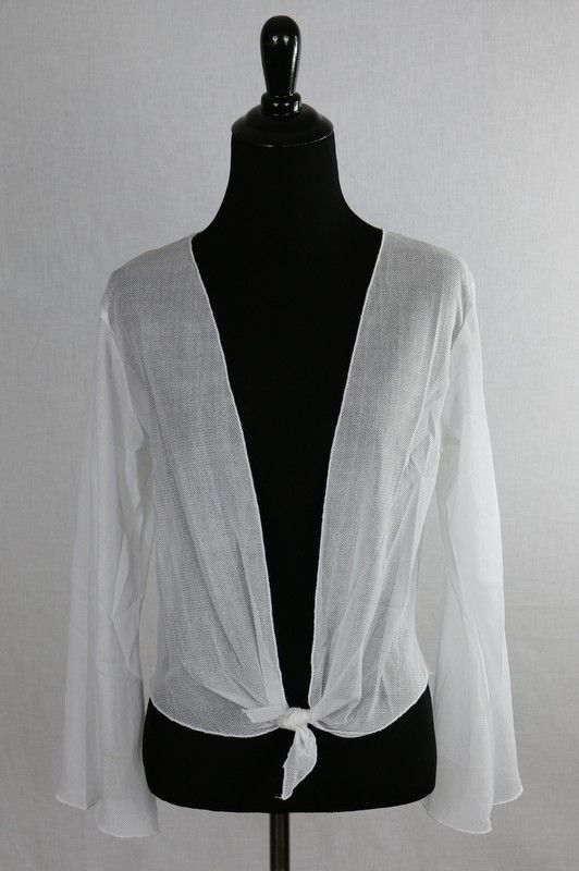 White Mesh cardigan