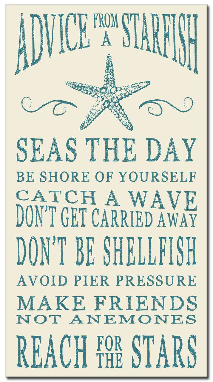 Starfish poem card - Advice From A Starfish Wood Sign 16