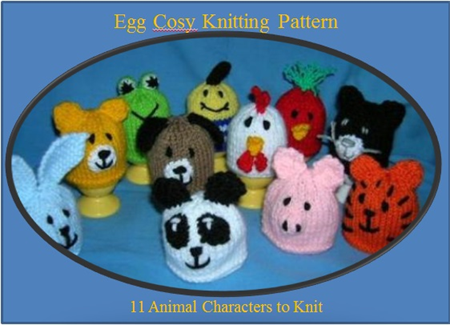 Pdf Egg Cosy Knitting Pattern 11 Characters To Make Kitchen