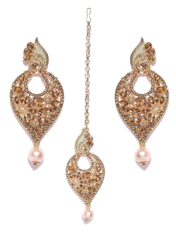 Zaveri pearls shimmering austrian diamonds studded earring