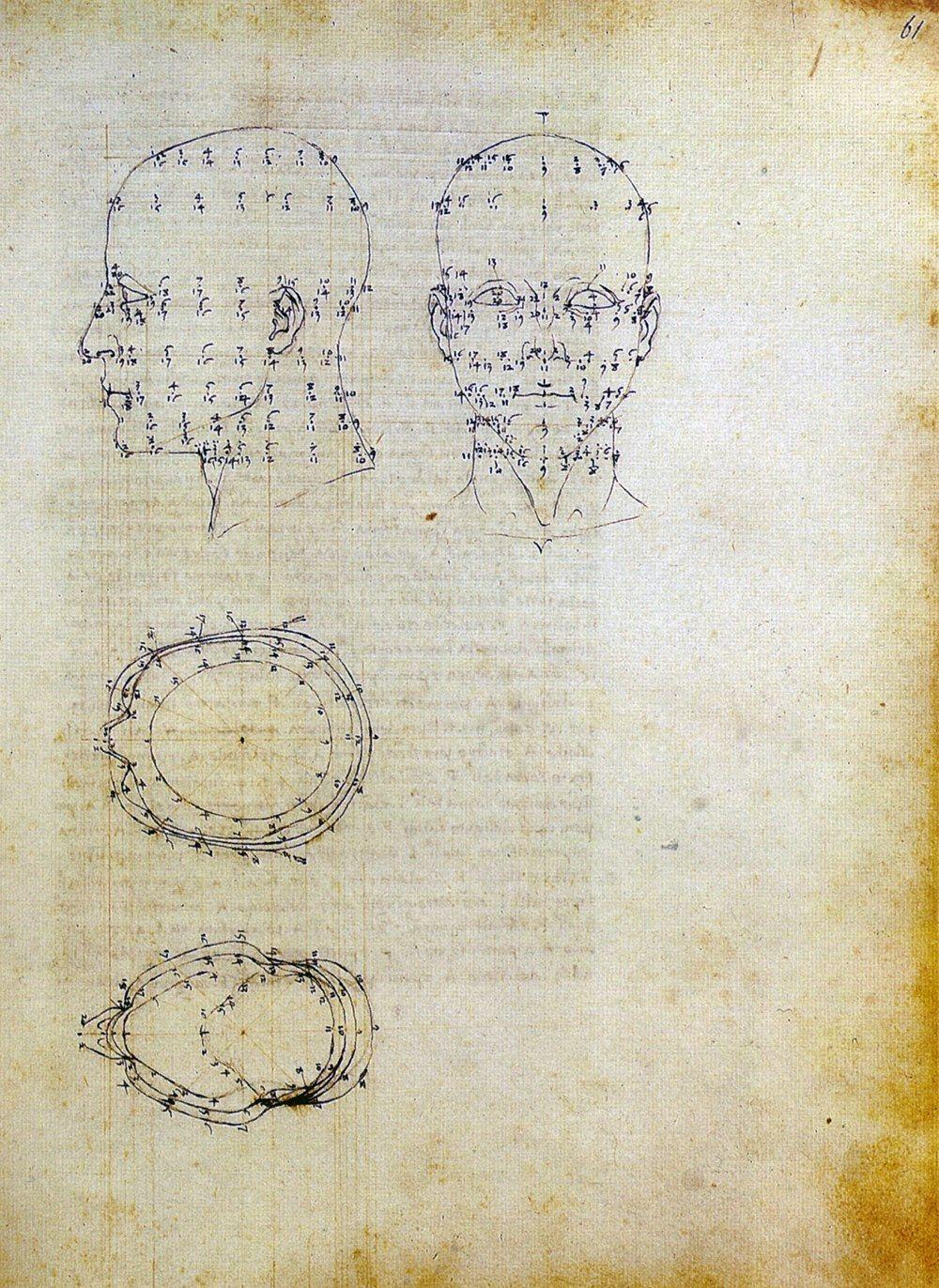PIERO DELLA FRANCESCA, disegno che illustra il suo metodo di costruzione prospettica