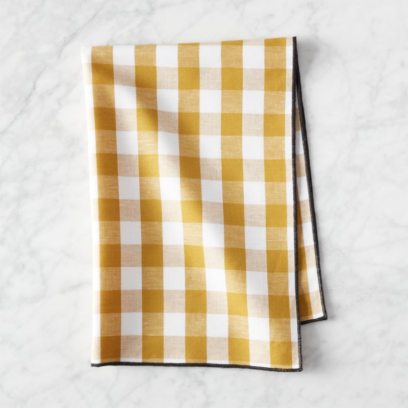 Free Shipping Shop Golden Yellow Gingham Dish Towel Snappy