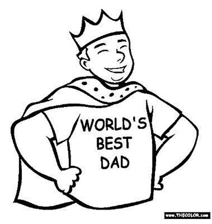 169 Free Father\'s Day Coloring Pages Dad Will Love | Dads, Free and ...