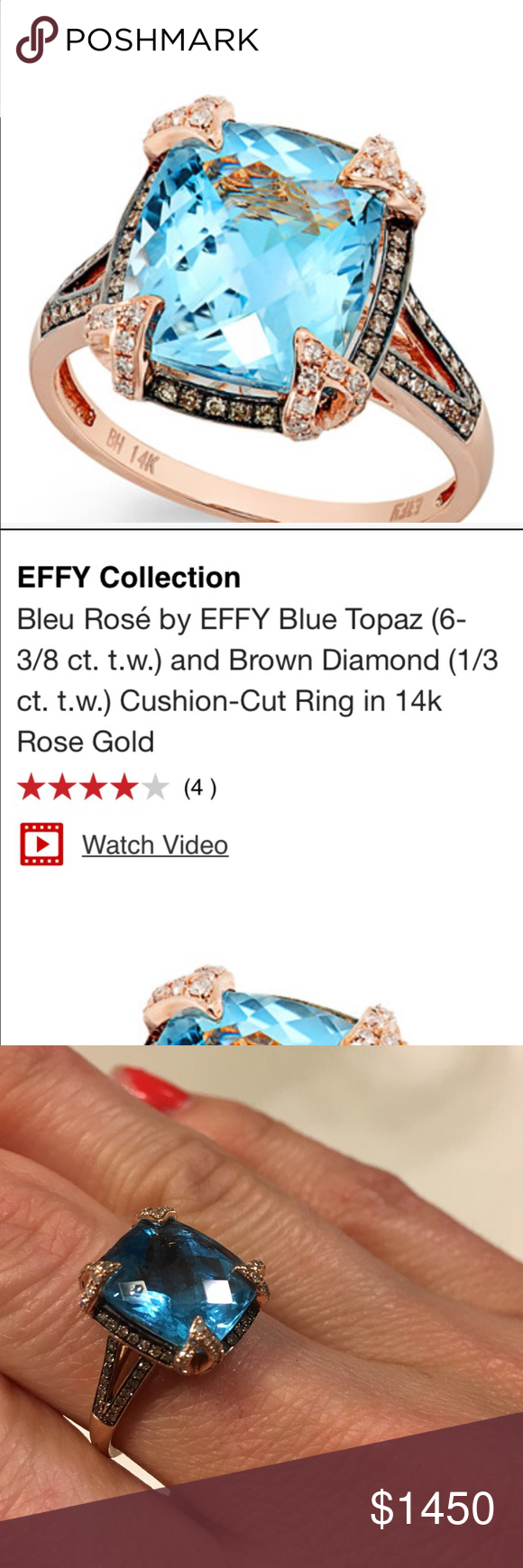 Effy collection rose gold ring gold rings ring and gold