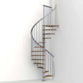 Best Arke Nice1 51 In X 10 Ft Gray Spiral Staircase Kit K50105 400 x 300