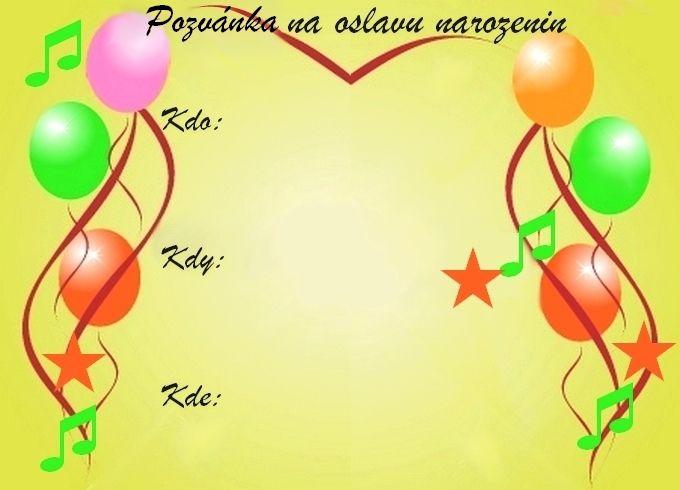 vzory pozvánek k narozeninám Pozvánky na oslavu narozenin   vzory   Oslavy party.cz   oslavy  vzory pozvánek k narozeninám