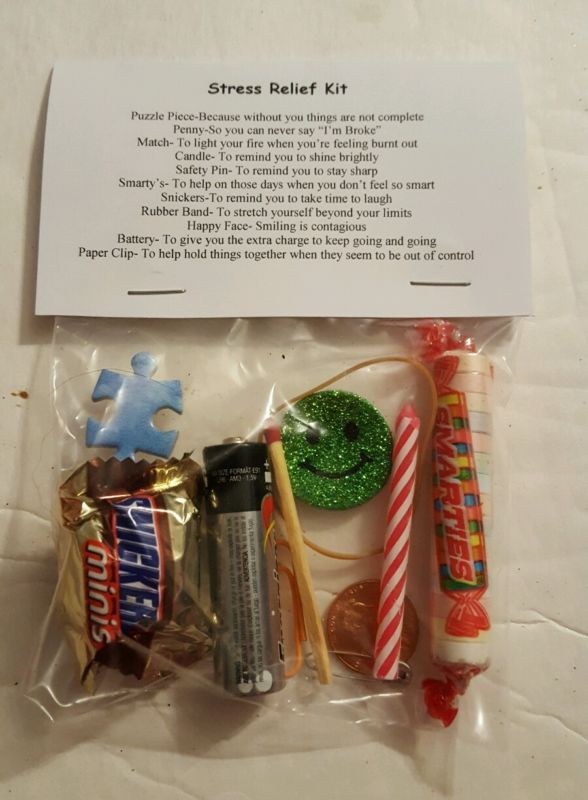 Stress Relief Kit 11 Items Inside Novelty Gift Survival Kit Gifts Stress Relief Gifts
