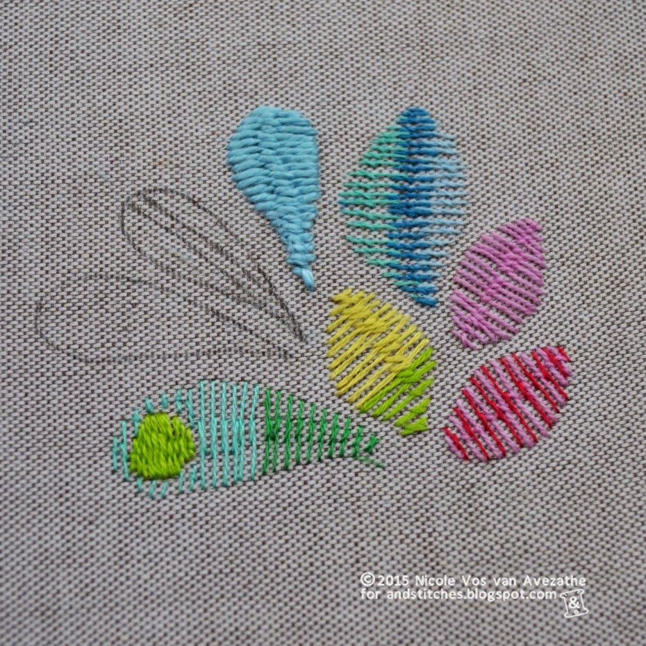 Ustitches tutorial roumanian stitch and roumanian couching stitch
