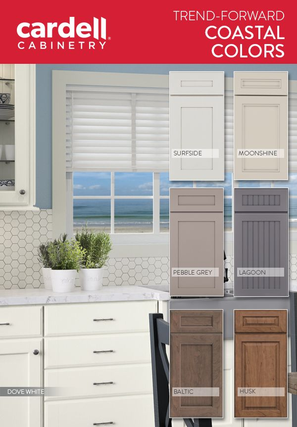 Cardell® Cabinetry: Coastal Meets Contemporary Kitchen Paint And Stain  Colors.