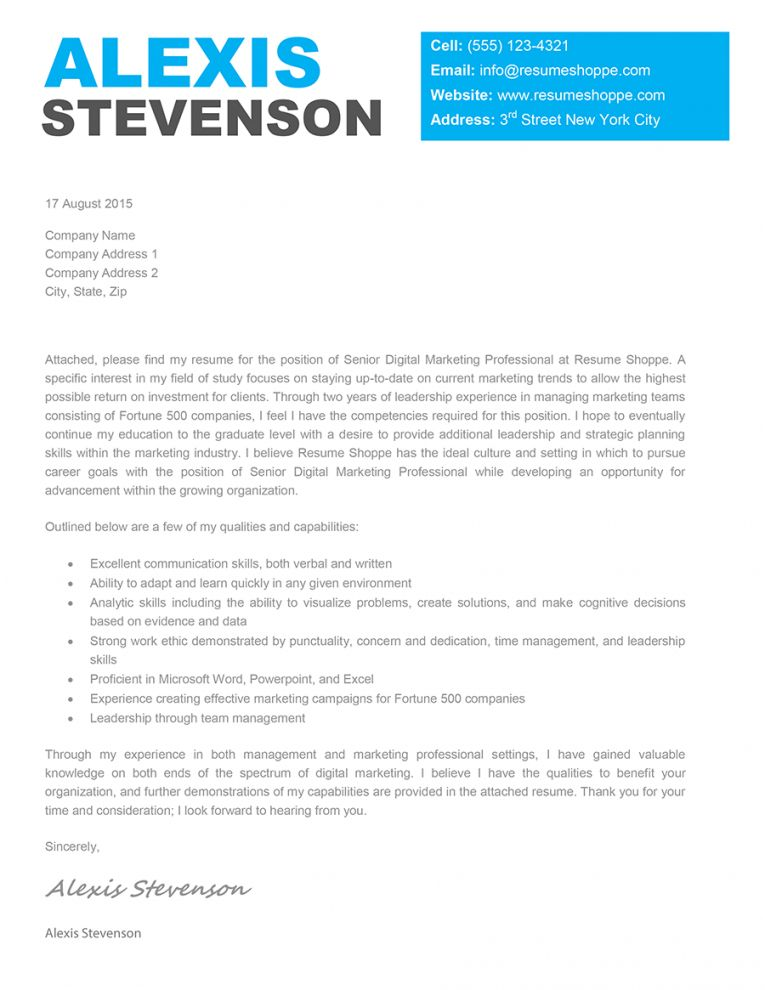 The Muse Cover Letter Template Coverlettertemplate