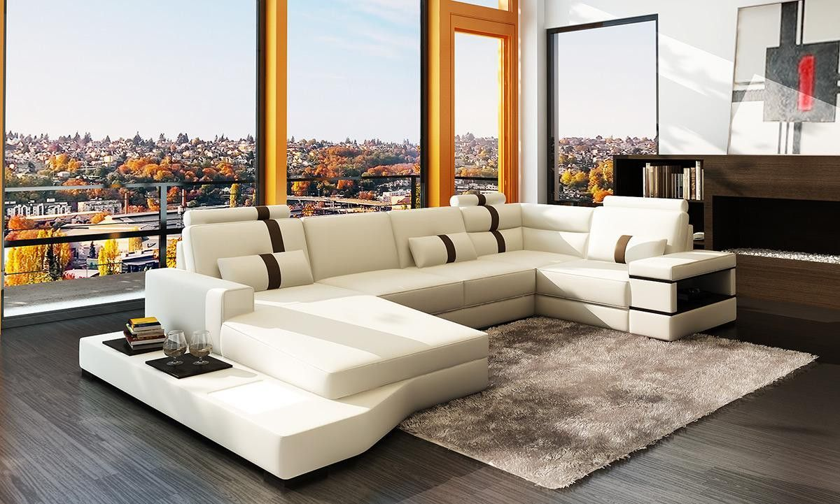 Divani Casa Massimo Contemporary Bonded Leather Sectional Sofa