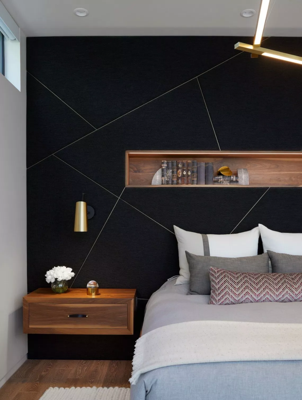 Bold Black Accent Wall Ideas Black Walls Bedroom Bedroom Wall Designs Feature Wall Bedroom
