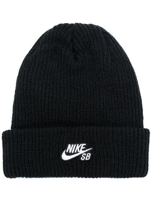e6712476d6ec0 Nike Embroidered Logo Beanie - Farfetch
