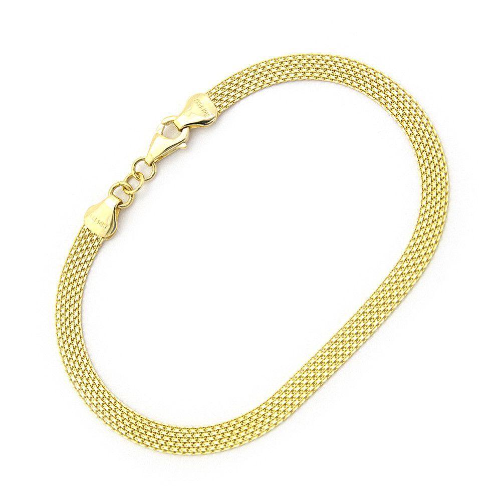 K yellow gold mm thick bismark chain bracelet