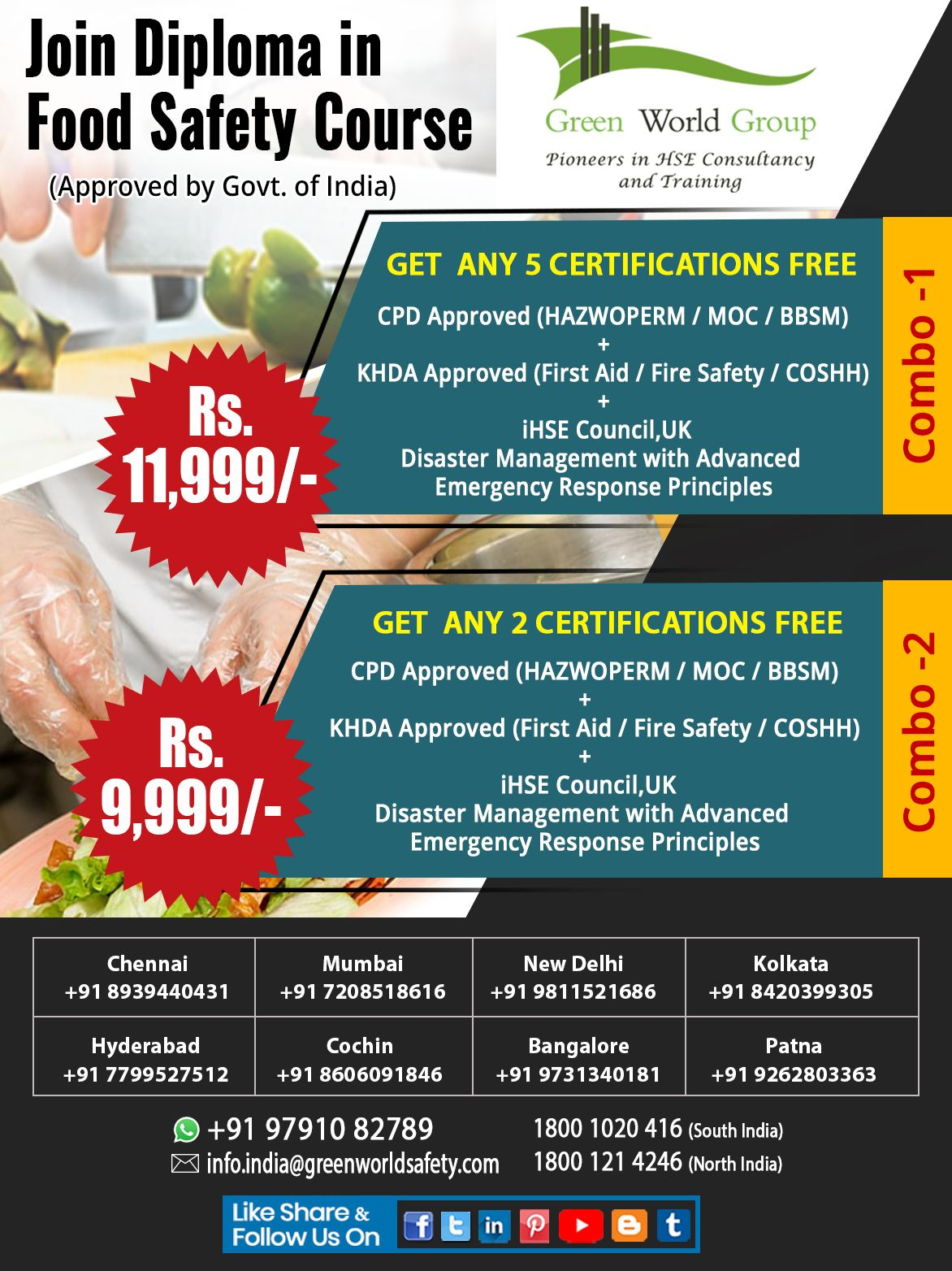 Join the Diploma in Food Safety Training Course which is
