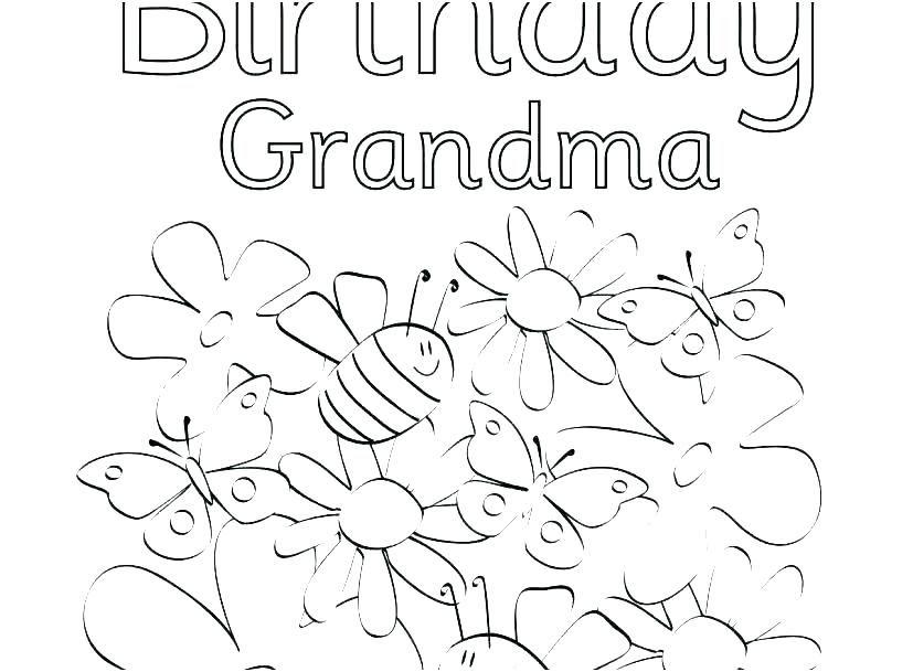 coloring pages of happy birthday happy birthday grandma
