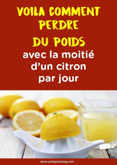 Voila comment perdre du poids avec la moitié d'un citron