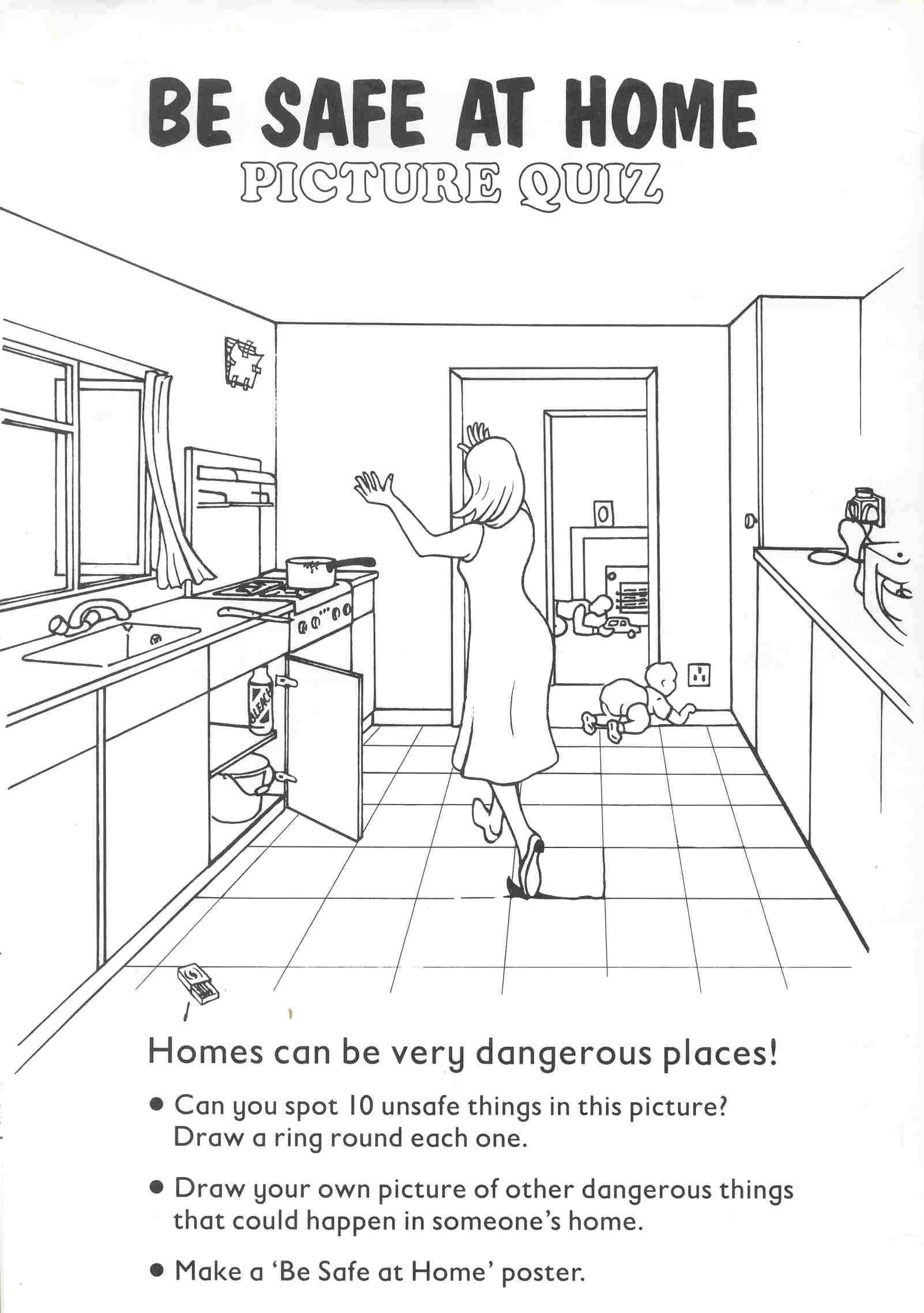 Health And Safety In The Kitchen Worksheets In
