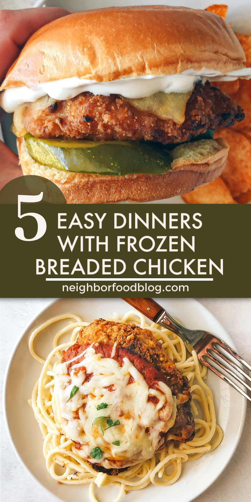 5 Easy Dinners to Make with Frozen Breaded Chicken